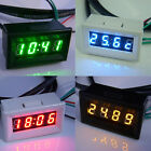 Digital Display Meter Car Time Temperature Volt Measurement LED