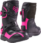 2017 Fox MX PeeWee Comp 5 Boots - Black/Pink Kids Motocross Offroad Funbike