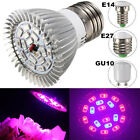 8W E27 E14 GU10 12 Red 6 Blue LED Grow Light Plant Lamp Garden Greenhouse Plant