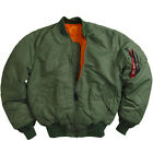 Alpha Industries MA-1  Flight Jacket, Sage Green Free shipping USA