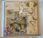 Happy Birthday Handmade Boxed Keepsake Card with Butterfly Magnet