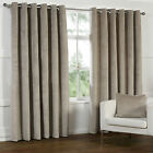 HEAVY VELOUR Velvet Like Curtains GOLD BEIGE Natural  Tape 66 90 108 PATIO