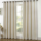 Heavy CHENILLE Curtains PALE CREAM IVORY Cotton Rich Lined EYELET Ring 66 90 108