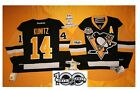 Kunitz Home Pittsburgh Penguins Reebok Hockey Jersey 50th & NHL 100th patch 7185