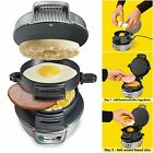 Quick Breakfast Sandwich Maker Electric Grill Kitchen Camping English Muffins