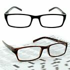 READERS CLASSIC Men's Rectangle READING GLASSES 1.25~3.00 QUALITY SPRING HINGES