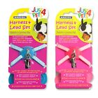 Ancol Just 4 Pets Rabbit Guinea Pig Small Animal Harness & Lead Set Pink Blue