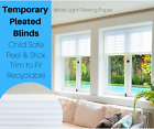 Portable Pleated Blinds White Pleated Temporary Blinds - Save £££'s