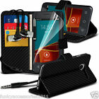 Leather Wallet Phone Case✔In Ear Stereo Headset for Vodafone Smart First 6