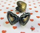 6pc, Pewter HEART LOCKETS ~Jewelry Making Findings