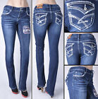 NWT JUNIOR AMETHYST JEANS Boot Leg Stretch Denim Slim Fit Jeans free ship #84860