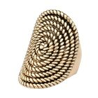 Elegant Gold Big Rings Punk Statement Wide Band Finger Ring Bijoux for Women Men