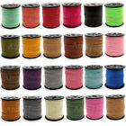 Wholesale 100 yard 3mm Faux Suede Leather String Jewelry Making Thread Cords DIY