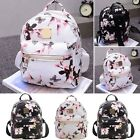 PU Leather Lady Casual Rucksack School Floral Backpack Women Crossbody Bag