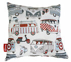 HIPPY VAN & SCOOTER 70'S BOYS BEACH SCATTER CUSHION COVER THROW BED SOFA PILLOW