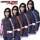 New Ladies Motorcycle Textile Cordura Waterproof Jacket Vents with Armours