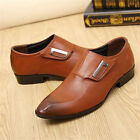 Men's Business Casual Oxfords Leather shoes Dress Formal Wedding Pointed Toe