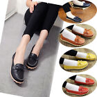 Women's Casual Flats Leather Shoes Lazy Peas Ballet Loafers Comfortable Walking