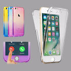 Front Back Slim 360° TPU Gel Jelly Skin Case Cover Crystal For Apple iPhone 7