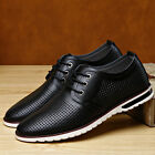 Men's Casual Formal Leather shoes England style Breathable Hollow Business Dress