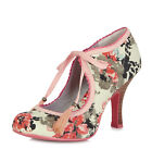 Ruby Shoo NEW Willow pink cream floral high heel fashion shoes sizes 3-9