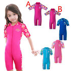 Youth Girls Swim Swimsuit 3-10Y Kids UV Rash Guard Flower Bathers Beach Swimwear