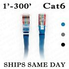 Ethernet Cable LAN Network RJ45 Patch Cat6 UTP 24AWG cable 1ft-300ft lot BLUE