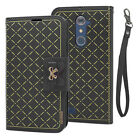 For ZTE ZMAX PRO Z981 Grand X Max 2 Carry Wallet Case Card Cover Holder w/ Strap