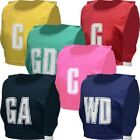 New OSG Team Netball Bibs Position Sports Lettered Bib Full Set Of 7
