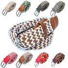 Womens Ladies Webbing Weave Waistbands Sports Outdoors Pin Buckle Strench Belts