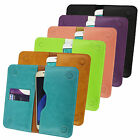 PU Leather Magnetic Slim Wallet Case Cover Sleeve Holder fits Komu phones