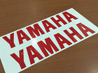 """x2 YAMAHA Decals Stickers Vinyl motorcycle yz yzf fzr r1 r6 size 6""""-12"""" for sale  Thailand"""