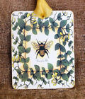 Hang Tags BUMBLE BEE YELLOW FLOWERS VINE TAGS or MAGNET #336  Gift Tags