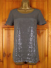 NEW NEXT LADIES GREY SEQUIN SPARKLY SUMMER BLOUSE TUNIC TOP UK SIZE 6 - 22
