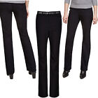 Marks & Spencer Womens Bootcut Belted Jeans New M&S Roma Mid Rise Black Bootleg