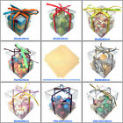 5 10 15 20 25 CLEAR CUBE FAVOUR BOX TRANSPARENT BOXES WEDDING GIFT CRAFT CHEAP