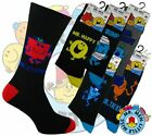 12 Mens MR MEN Cartoon Novelty 100% OFFICIAL Character Socks UK 6-11