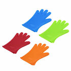 Kitchen Heat Resistant Silicone Glove Oven Pot Holder Baking BBQ Cooking Tool Y
