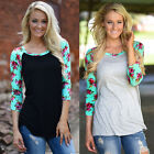 New Fashion Women Summer Tops Long Sleeve Casual Blouse Loose Cotton T Shirt
