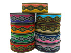 1m Embroidered  Ribbon/Trim Medieval   33mm width Various colours available