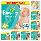 Pampers Baby-Dry Nappies Monthly Saving Pack - Size 3, 4, 5, 6  baby's skin  night