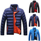 Men's Korean Slim Fit Solid Color Collar Down Coat Casual Padded Jackets Outwear