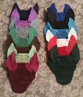 PONY SIZE HAND MADE EAR FLY BONNET VAIL  (SEVERAL COLORS)