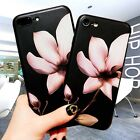 For Apple iPhone 7 6S Plus & 6 Cover Shockproof 3D Embossed Painting Flower Case