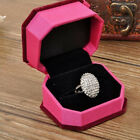 Fashion Women Wedding Rings Engagement Ring Silver Crystal Jewelry Size 6-11 ONU
