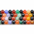 Natural Multi-Colors Agate Gemstone Round Beads 15'' 6mm 8mm 10mm 12mm