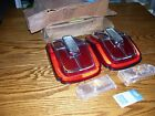 NOS 1967 FORD GALAXY TAIL LENSES WITH TRIM AND PARK LENSES