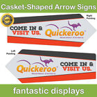 Arrow Spinner CASKET Full Color Street Waving Sign Custom Traffic Pointer Print