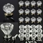 1/6/12pcs 25mm Clear Crystal Glass Cabinet Door Knob Cupboard Drawer Pull Handle