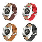 Genuine Leather Wrist Watch  Band  Strap for Apple Watch Series 1 / 2 / 3 /4  image
